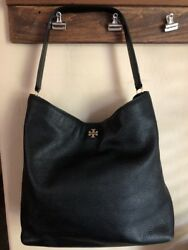 Tory Burch Frida Leather Hobo BLACK MSRP $475 Nordstrom Exclusive