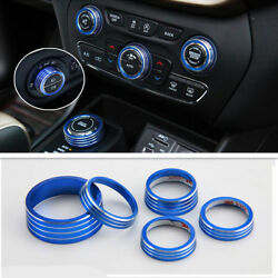 Blue Air Conditioner&Four Drive&Headlight  Knob Cover For Jeep Cherokee 2014-19
