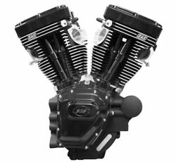 S&S T124 Black Edition Froged Flat Top Engine for 2006-17 Harley Dyna Models