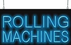 Rolling Machines Neon Sign   Jantec   2 Sizes   Smoke Shop Pre-rolled Joints