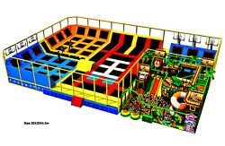 8500 sqft Commercial Trampoline Park Soft Play Climb Inflatable We Finance 100%