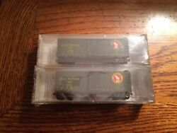 Micro-trains N Scale Gn Great Northern 20406-2 2 Pack 40' Standard Single Door