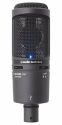 Audio-Technica Back Electret Condenser Type USB Microphone AT2020USB + From Japa