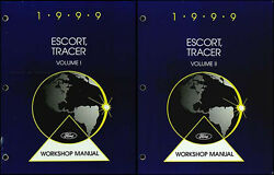 1999 Ford Escort and ZX2 Mercury Tracer Shop Manual Set Repair Service Workshop
