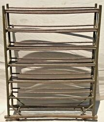 19th C Industrial Antique Cobblers Rack In Bittersweet Apple Green Finish
