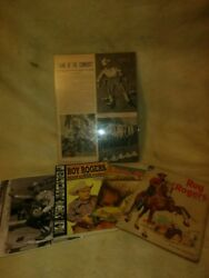Roy Rogers Collection Books Comic Signed Photo Promotional Article 5 Pieces