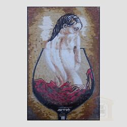 Drowning In Win Handmade Mosaic Art Picture Natural Stone Mosaic Decor Wall Art