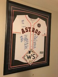 astros world series team signed jersey 22 players jsa and Tristar coa