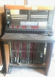 Vintage Telephone Switchboard Western-Electric Patchbay Operator Bell