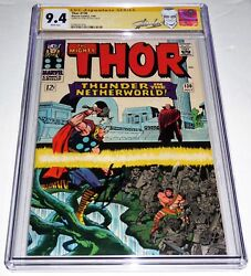 Thor 130 Cgc Ss 9.4 Signature Autograph Stan Lee Hercules And Pluto Appearance