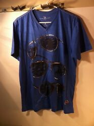 MARC ECKO  MENS TSHIRT--SIZE M--SUNGLASSES--SPEEDOMETER--GOLD ---FREE SHIP--VGC
