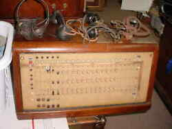 VINTAGE SWITCHBOARD RARE AND HAS 2 HANDHELD RECEIVERS & 2 HEADSETS VERY HEAVY