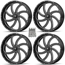Msa M36 Switch Atv Wheels/rims Milled 24 Can-am Renegade Outlander 4