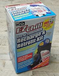 ID Quest EZChill Auto Air Conditioning Recharge Retrofit Kit High Mileage AC Oil
