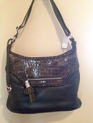 Authentic Brighton Leather Shoulder Bag Olive Green Nwt Reg 270