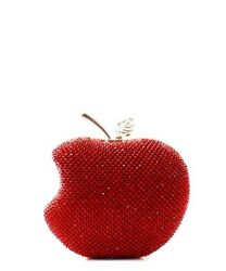 Apple Shaped Rhinestone Embellished Clutch Evening Shoulder Bag $45.00