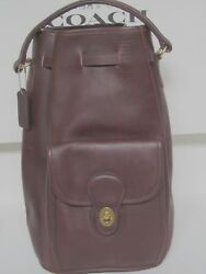 NWOT COACH Large Vintage Dark Brown Leather Backpack Bucket Bag Tote $399 USA