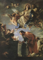 Cerezo Mateo Assumption Of Mary Artist Painting Reproduction Handmade Oil Canvas