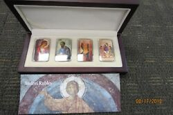 Niue 2012 2 Andrei Rublev 4 X 1 Oz Silver Coin Icon Set With Convex Shape