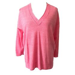 J Crew Knit Top Size Xs Drop Shoulder Flowy Loose Pink Stretch Pullover Sleeve