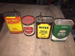 Riley Bros Kendall Grease Mitee Oil And 1968 Texaco Radiator Flush Vintage Cans