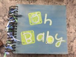 39 !! BABY BOY Book Pre-made Scrapbook Pages Months 1-12 Custom Made Homemade