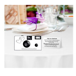 20 Double Hearts Single Use Disposable Cameras-personalize-wedding Camera50346