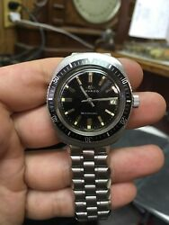 Movado Menand039s Diver Watch Stardiver 200m Stainless Steel Auto Date Watch Vintage