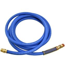B455144 12' Blue Rubber Dot Air Brake Hose, 3/8 Id With 1/2 Npt Fittings