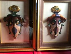 Thai Ceremonial Masks (pair)