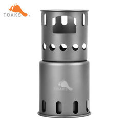 Titanium Backpacking Wood Burning Stove Solo Use Outdoor Cooking System TOAKS...