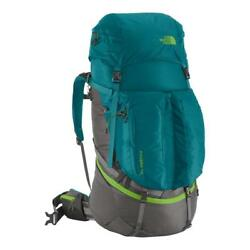 NEW NORTH FACE WOMENS FOVERO 70 L LITER M-L BACKPACK RUCKSACK HIKING BLUE CORAL