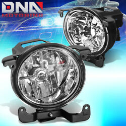 For 03-06 Rb 4dr Accent Chrome Clear Lens Pair Front Halo Fog Light Lamp+bulb