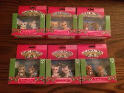 Calico Critters Bear Mouse Squirrel Dog amp; Cat Twins New Read Description Lot 6