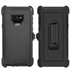 Black For Samsung Galaxy Note 9 Defender Case Cover w Belt Clip fits Otterbox