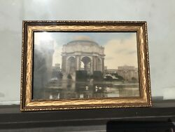 Antique Photo,palace Of Fine Arts In San Francisco Famous Scenery.