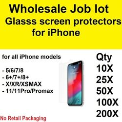 Wholesale Job Lot Bulk Tempered Glass Screen Protector For Iphone 7/8 X/xr Xmax