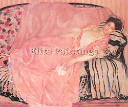 Frieseke Frederick C Portrait Madame Gely Couch Artist Painting Oil Canvas Repro