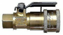 Jr Products 07-30435 1/4 Fpt X Quick Connect Propane Coupler With Shut-off