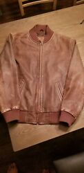 Disney Leather Bomber Jacket Pirates of the Caribbean At Worlds End Men#x27;s Size S $30.00