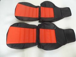 1987-1991 Mazda Rx-7 Fc Replacement Leather Seat Covers Black/red