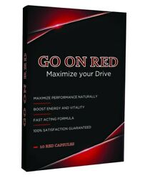 Go On Red Natural Male Enhancement Pill GUARANTEED POWERFUL ERECTION 10 Pills $29.95