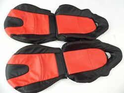 2003-2011 Mazda Rx-8 Replacement Leather Seat Covers Black With Red Inserts