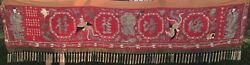 Chinese Embroidery Celebration Banner. Qing Dynasty. Late 19th C/early 20th C