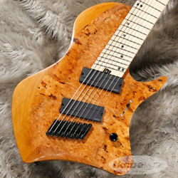 ABASI GUITARS Custom8 Multi Scale Burl Maple Top  (Natural Stain) (7773