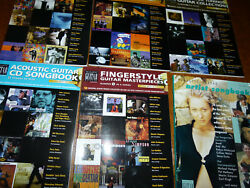 Lot Of 9 Acoustic Guitar Artist Song Books Vol 1 - 9, Includes 8 Cds Vol 2-9