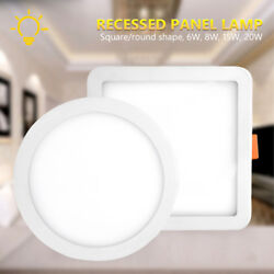 20W 15W 8W 6W LED Recessed Ceiling Panel Down Lights Bulb Slim Lamp Home Fixture