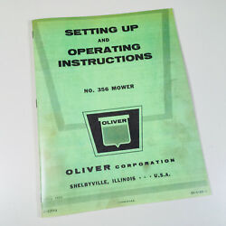 Oliver 356 Mower Operators Instructioins Manual Ford 8n 800 801 900 901 Tractor