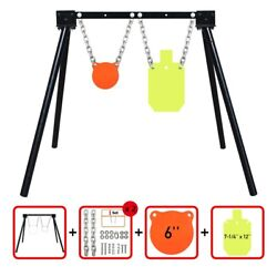 Ar500 Steel Shooting Target Stand System 1 Stand 2 Chainsand 6gong+7x12torso