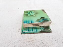 1940's Vintage Foldable Tobacco And Cigarette Tin Gift Box Case Japan